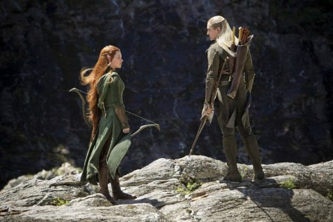 Orlando Bloom and Evangeline Lilly in THE HOBBIT: THE DESOLATION OF SMAUG