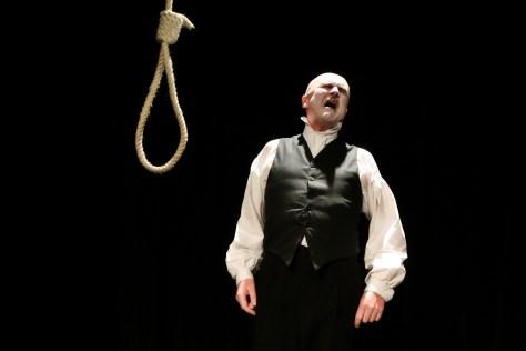 Tim Crouch as Malvolio. Pic Prudence Upton