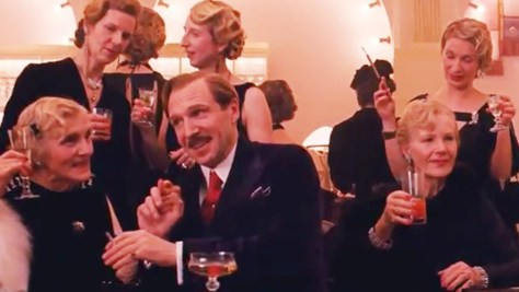 ralph fiennes as Gustave and his fillies