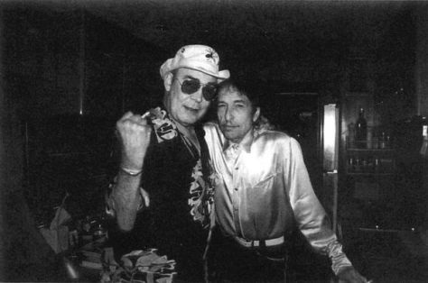 Two legends, Hunter S Thompson and Bob Dylan