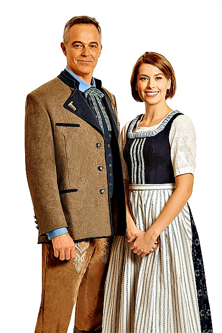 Cameron Daddo and Amy Lehpamer in The Sound Of Music. Pic Brian Geach