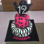 Zebra & Leopard Birthday Cake