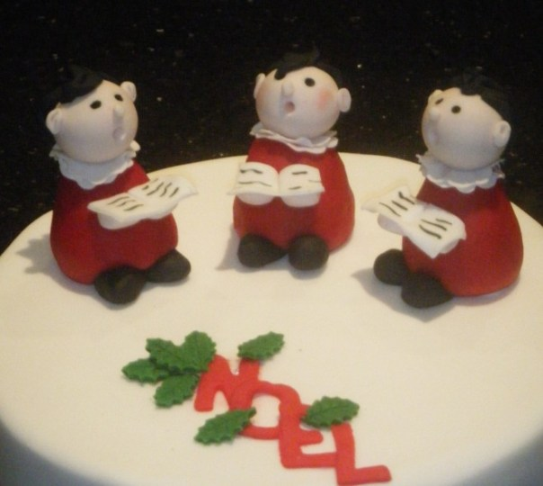 Three Choir Boys Christmas Cake