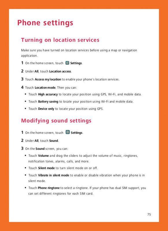 Huawei P8 Manual