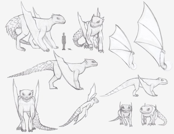 armadillo dragon creature model sheet
