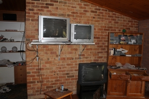 Screens used for outside surveillance at Girvan
