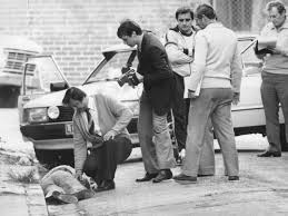 Body of Warren Lanfranchi, shot by Rogerson 1981