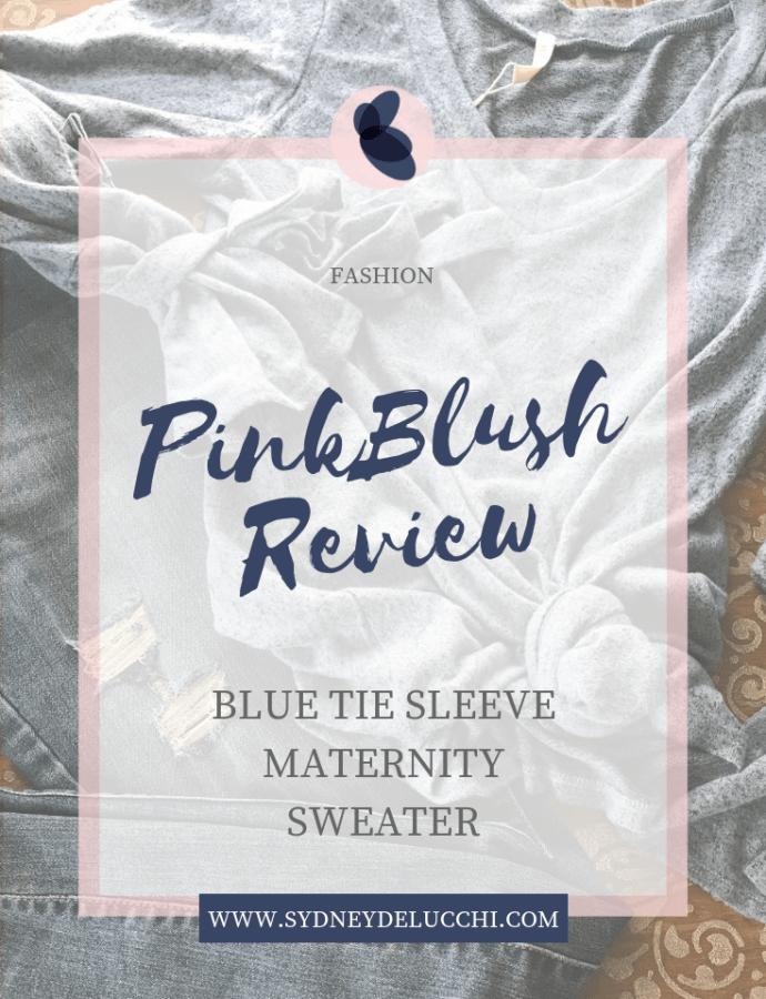 PinkBlush Maternity Tie Sleeve Sweater