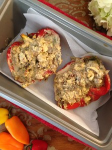 keto, clean, paleo, low carb, Whole30 Stuffed Peppers