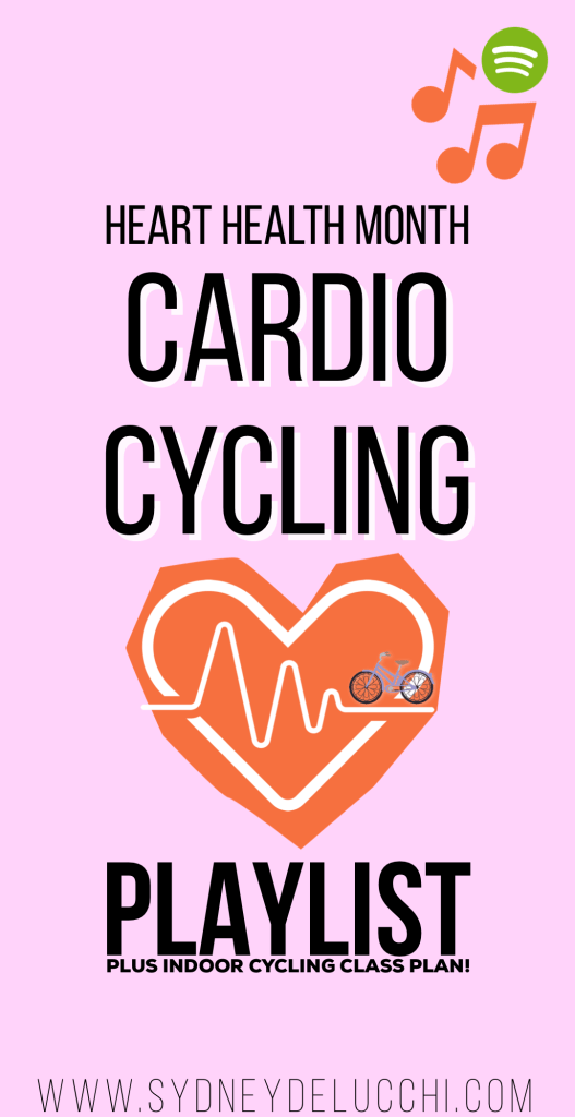 indoor cycling heart health playlist