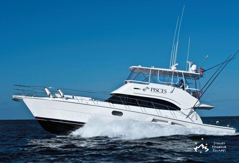 Pisces Boat Hire Private Fishing Charter Sydney Harbour