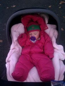 Her snowsuit!