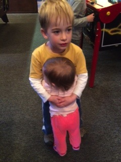 A big hug for 5-year-old Cole Cohen