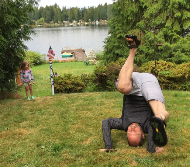 Uncle Jim Showing Off His Somersault