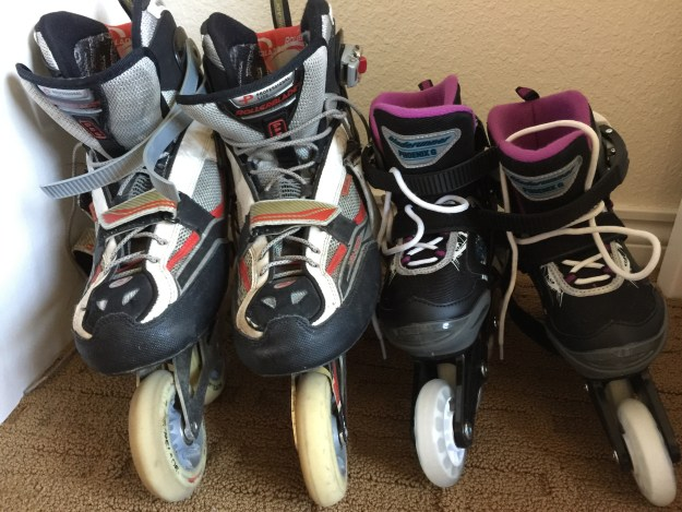 Sydney's and Dad's Skates