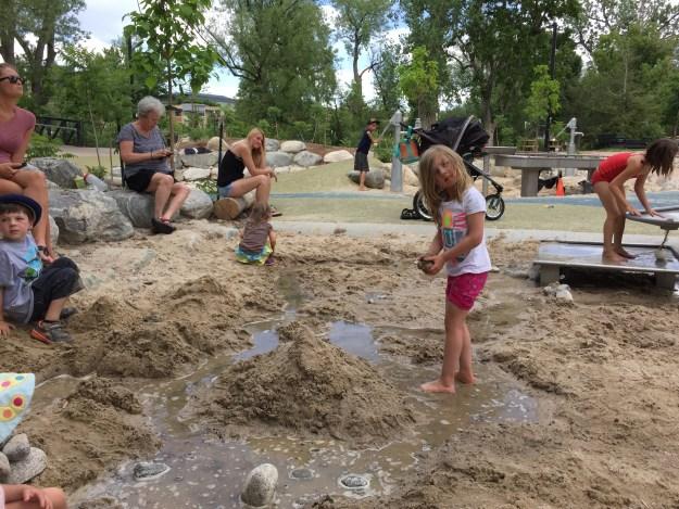 Building castles in Boulder Library Park