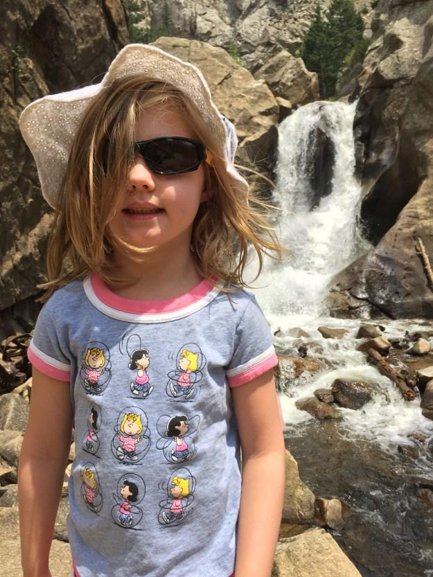 Sydney at Boulder Falls