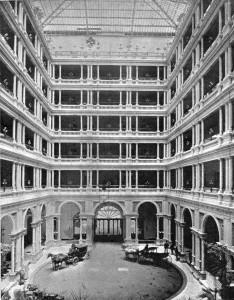 Interior of palace hotel