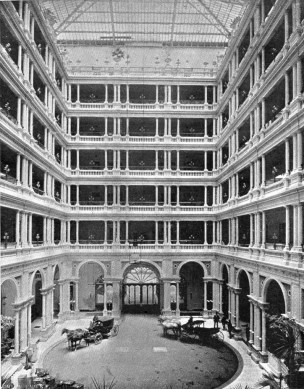 Interior of palace hotel