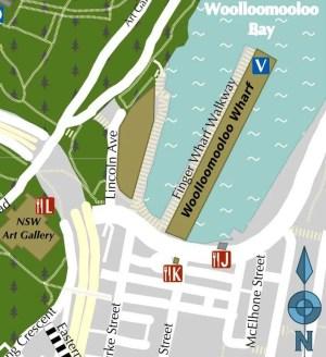 Woolloomooloo Wharf Map