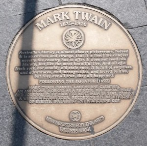 Sydney Circular Quay Writers Walk Mark Twain Plaque