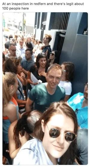 Sydney rental inspection crowd