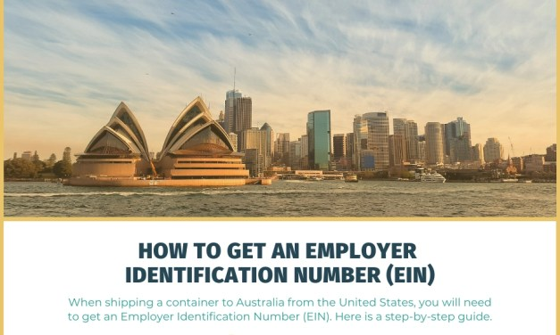 How to Get an Employer Identification Number (EIN) When Shipping a Container to Australia from the United States