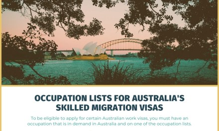 Occupation Lists for Australia's Skilled Migration Visas Like the 189 and 482 Work Visas