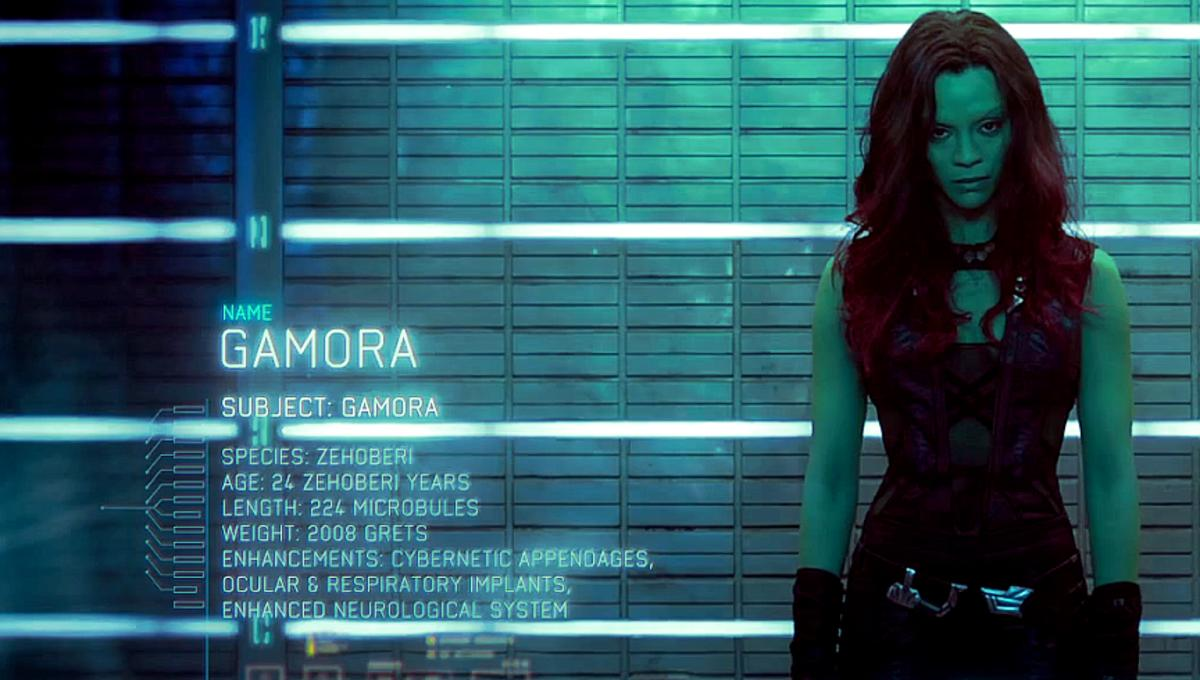 Image result for guardians of the galaxy gamora