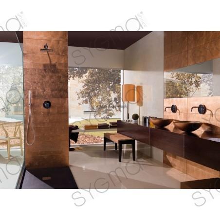 colored glass wall tile copper kitchen or bathroom ankara cuivre