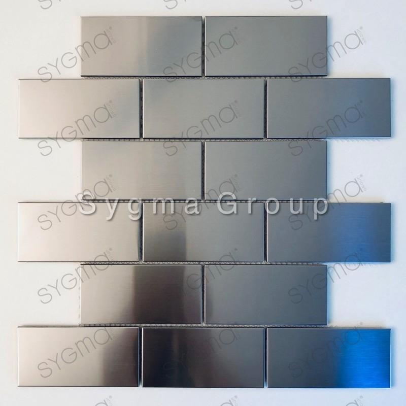 carrelage brique mural en acier inoxydable pour mur de cuisine modele loft