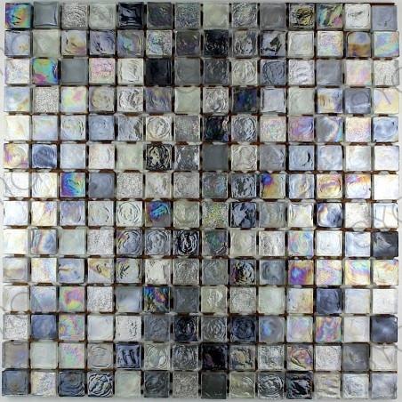 carrelage en verre pour mur de cuisine arezo gris