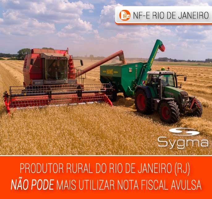 Nota Fiscal Produtor Rural RJ não pode ser Nota Fiscal Avulsa