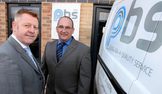 Andy Chaffer from SYIF with Robert Daniels Managing Director at PBS