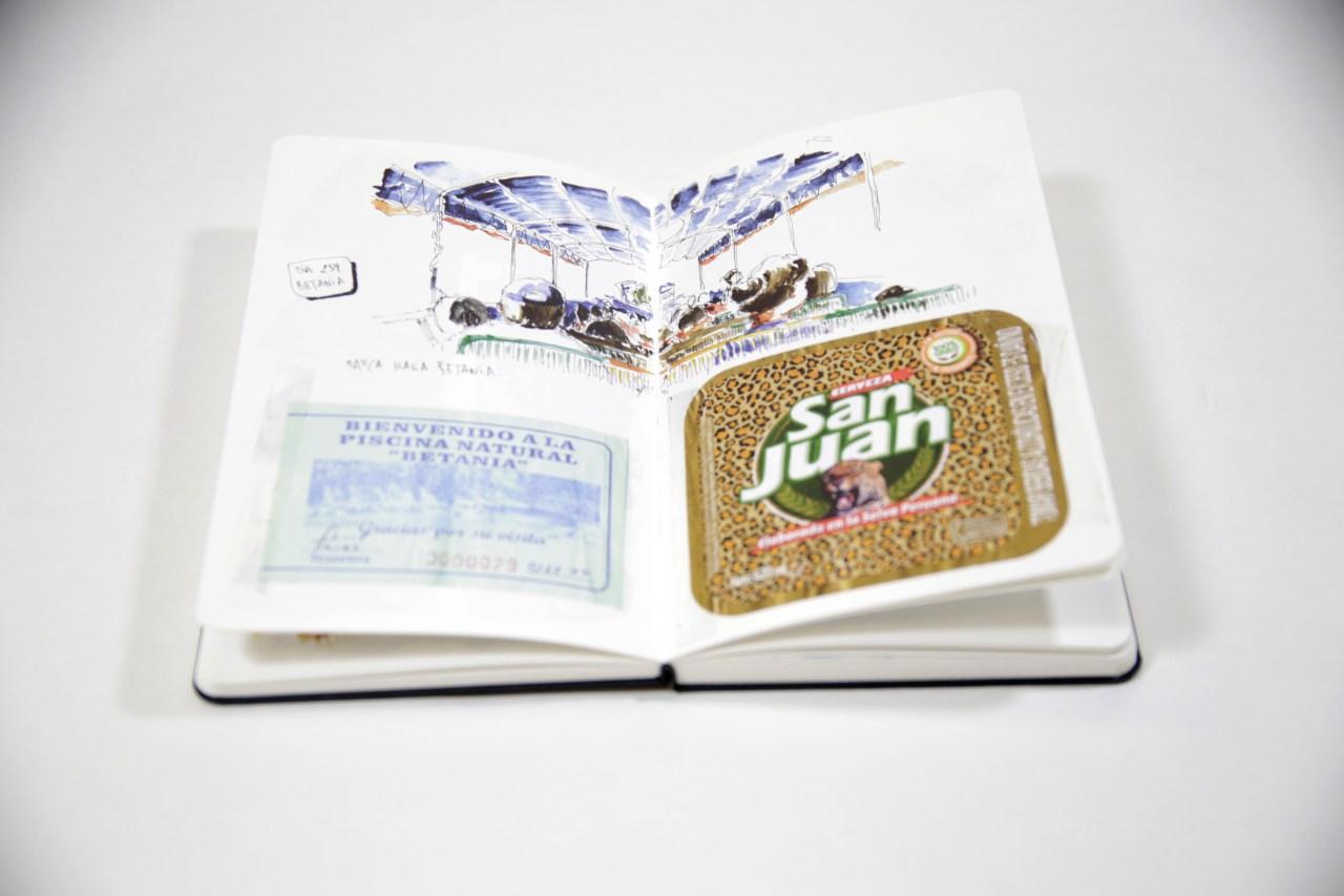 Juan Leon publica con SYL Ilustrando Sudamerica via crowdfounding, tapa dura, encuadernacion cosida y goma exterior