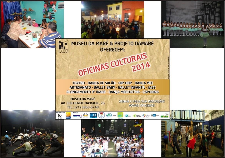 Algumas atividades desenvolvidas pelo projeto das Oficinas Culturais.