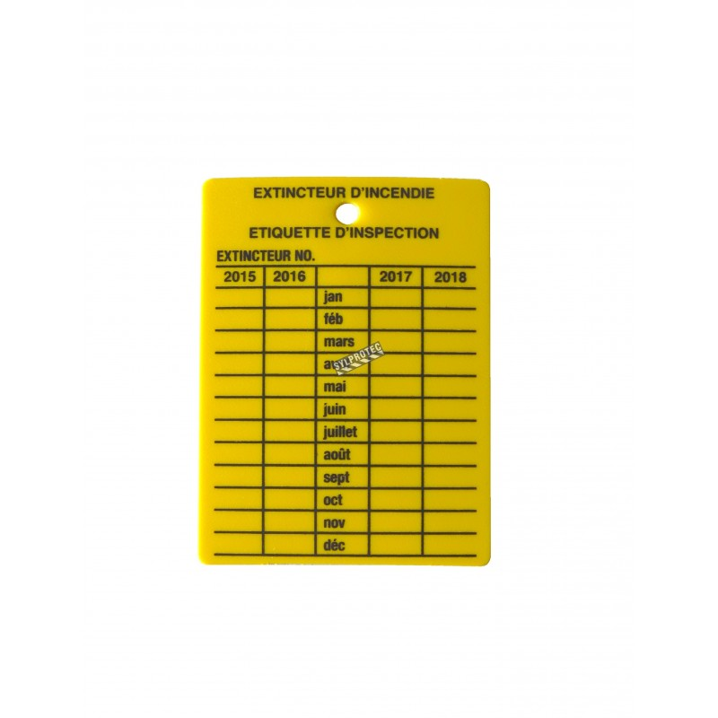 Accessories Extinguisher Fire Tag