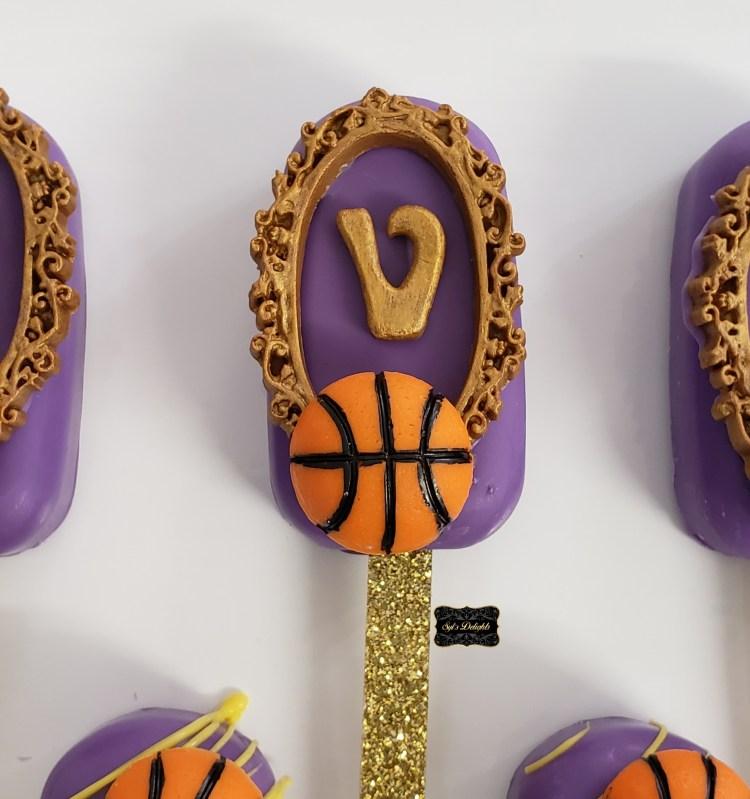 Basketball Cakesicle