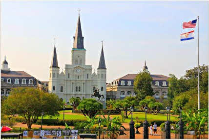 Jackson-Square-Flags-Flying-in-New-Orleans