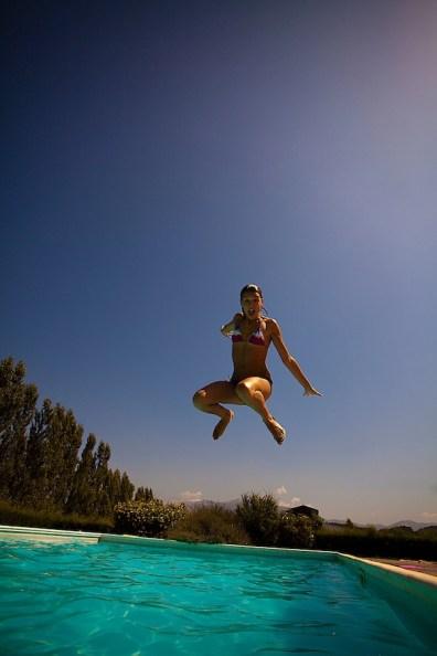 Layla à la piscine à Rome 2