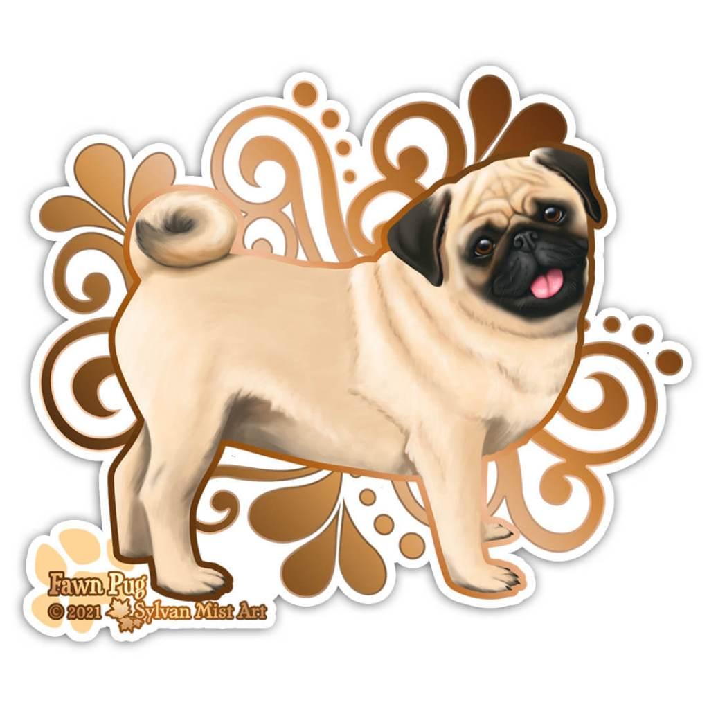 Illustration of a pug