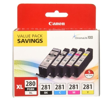Canon PGI-280 Pigment Black Ink and CLI-281