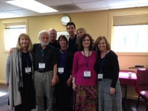 PJ LIBRARY AUTHORS Front Row: Ann Stampler, Aubrey Davis, Rabbi Sandy Sasso, Jacqueline Jules, & me. Top Row: Eric Kimmel, Rich Michelson, & Ellen Bari