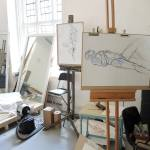 Weimin's life drawing classes.