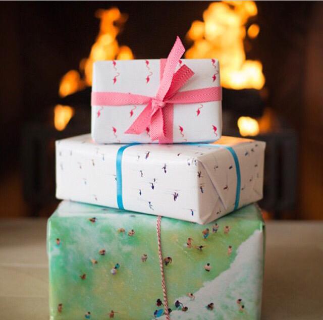 rad holiday gift wrap by Gray Malin