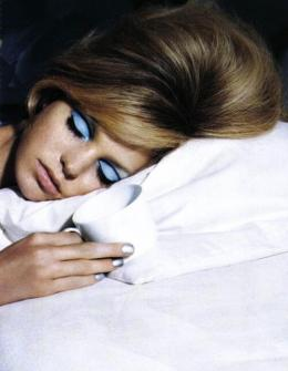 sylvie in the sky / periwinkle eyeshadow / pantone color of the year serenity - vintage vogue / winter color trend / periwinkle / home decor trend | Serenity Pantone Color of the Year featured by popular San Francisco style blogger, Sylvie in The Sky