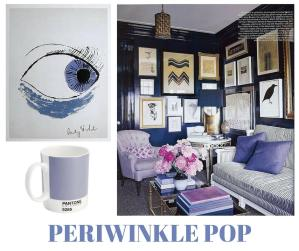 sylvie in the sky / winter color trend / periwinkle / home decor trend / canva / inspiration board / color collage