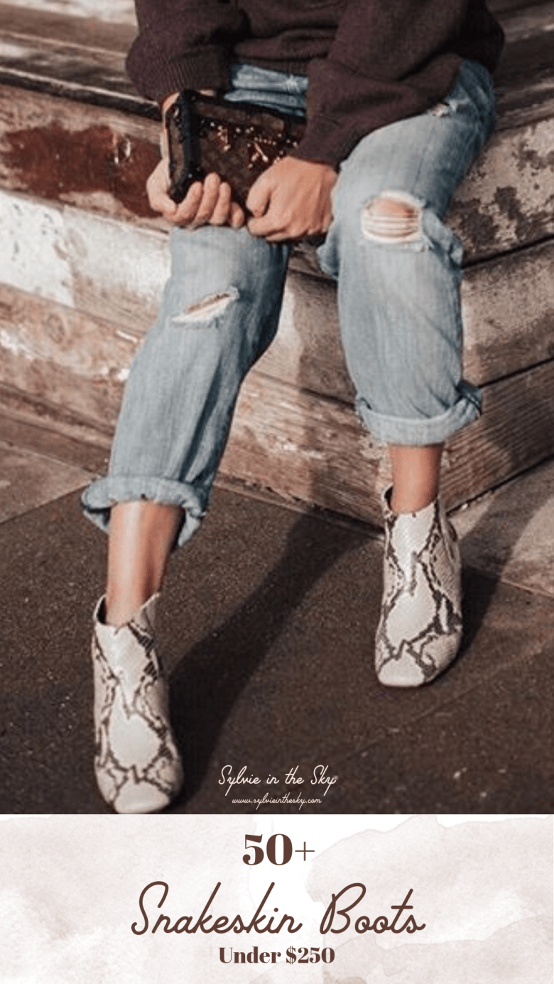 e32ba61c4ea Best Snakeskin Boots for Women featured by top US fashion blogger Sylvie in  the Sky