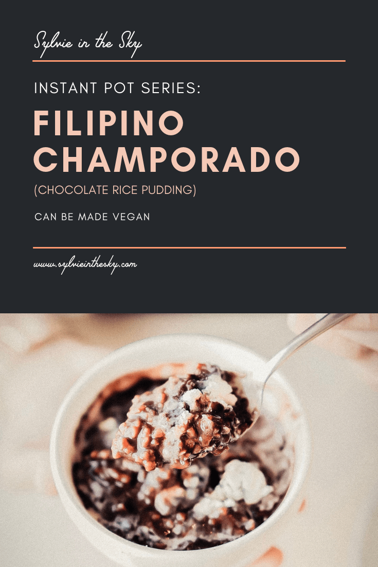 Filipino Champorado Recipe featured by top US food blogger Sylvie in the Sky