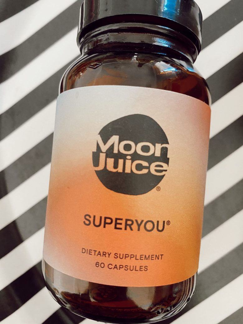 Wellness Supplements by popular San Francisco lifestyle blog, Sylvie in Sky: image of a bottle of Moon Juice.